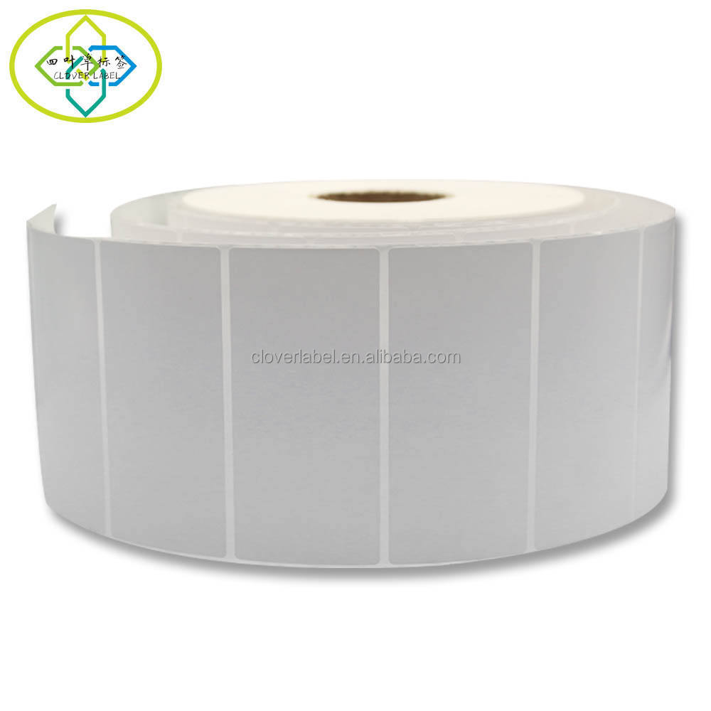 Custom blank white self-adhesive coatedthermal transfer paper sticker bar code label