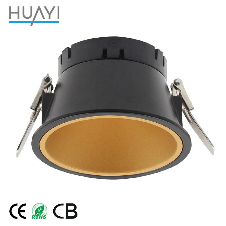 DIY Module Commercial Replaceable Slim Round Recessed Antiglare 9W 15W COB LED Downlight