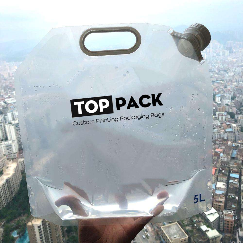 outdoor emergency use 1l 2l 3l 5 liter plastic drinking water bag with spout