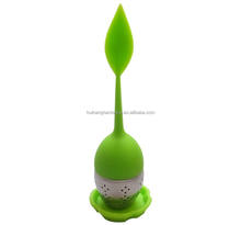 LO002 Manufacturer food grade silicone leaf shaped tea infuser/tea bag