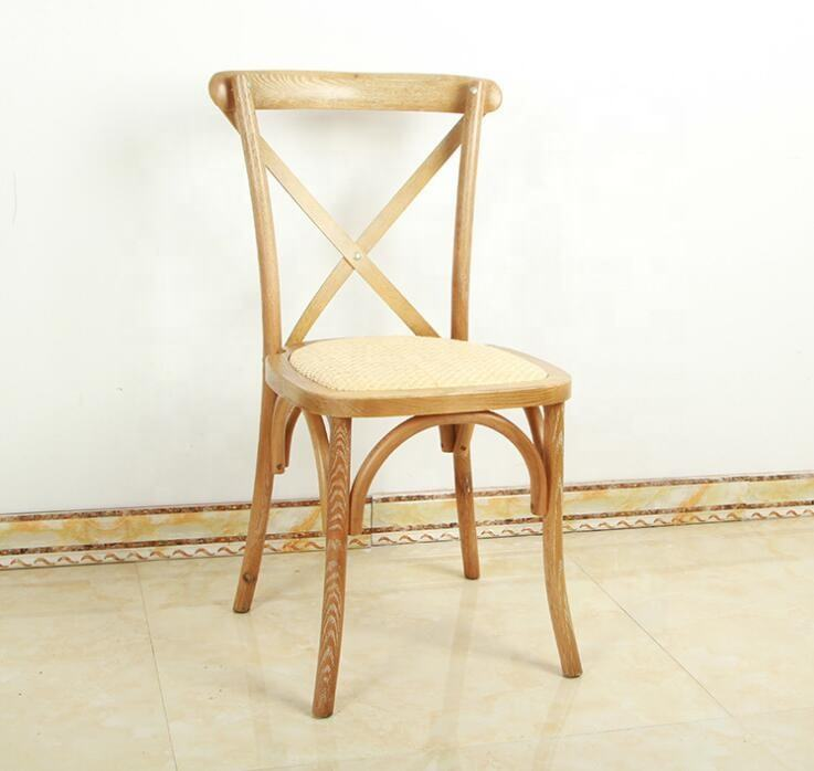 Antique brown Solid wood stacking cross back chair