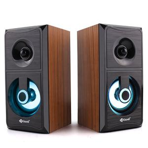LED Wooden Mini Style USB 2.0 6W Power Metal Parlante Speakers Set Car Audio
