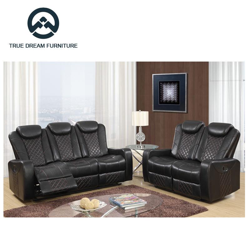 Mouvement console canapé confortable et polyvalent en cuir meubles