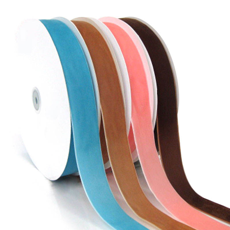 Wholesale 3mm-50mm single face stretch nylon velvet ribbon for garment accessories
