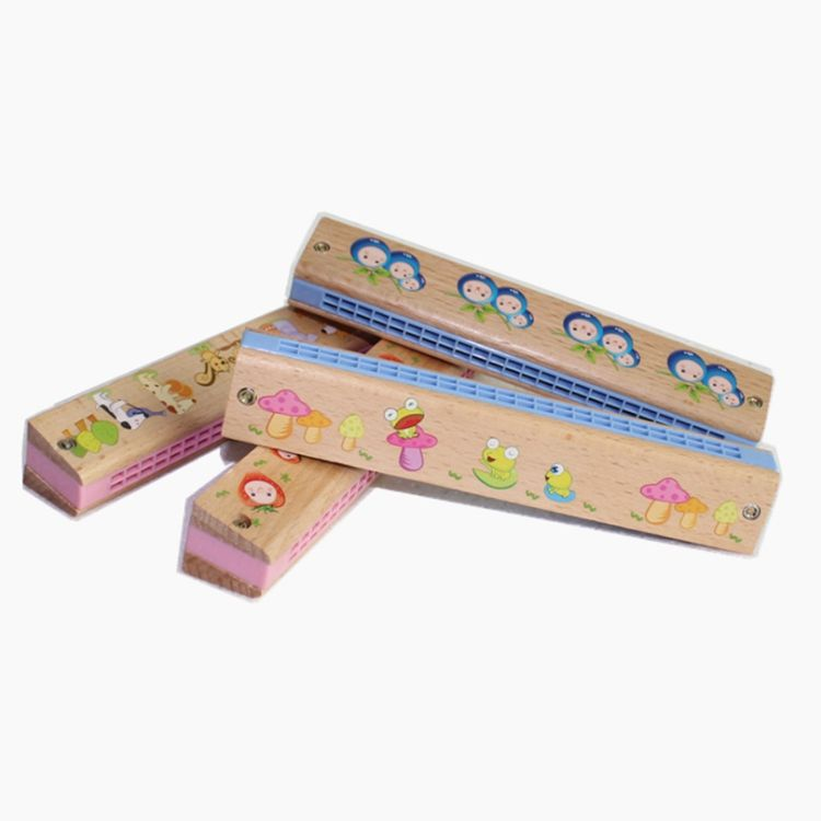 Montessori Early Development skill training kids toy wooden Harmonica