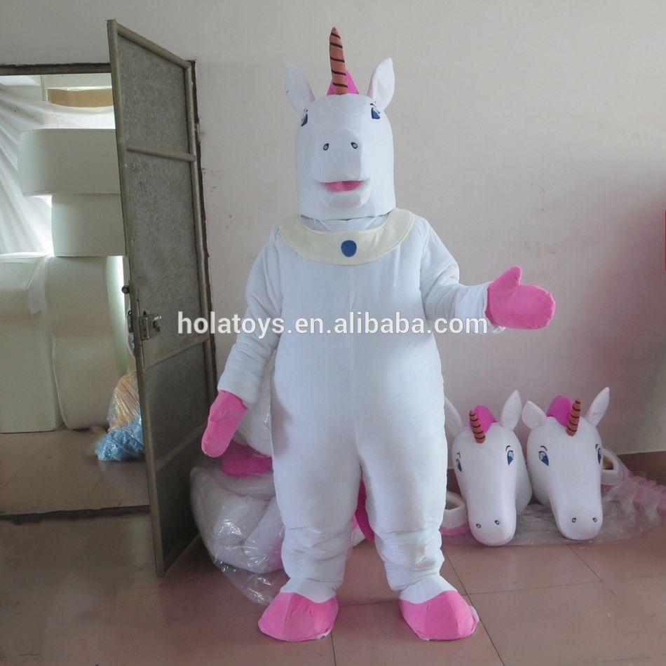 Hola Белый Единорог талисмана/костюм талисмана/талисман