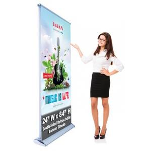 Display ontwerp pull up scrolling intrekbare banner