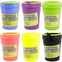 GID Plastic Car Ashtray / Luminous Butt Bucket