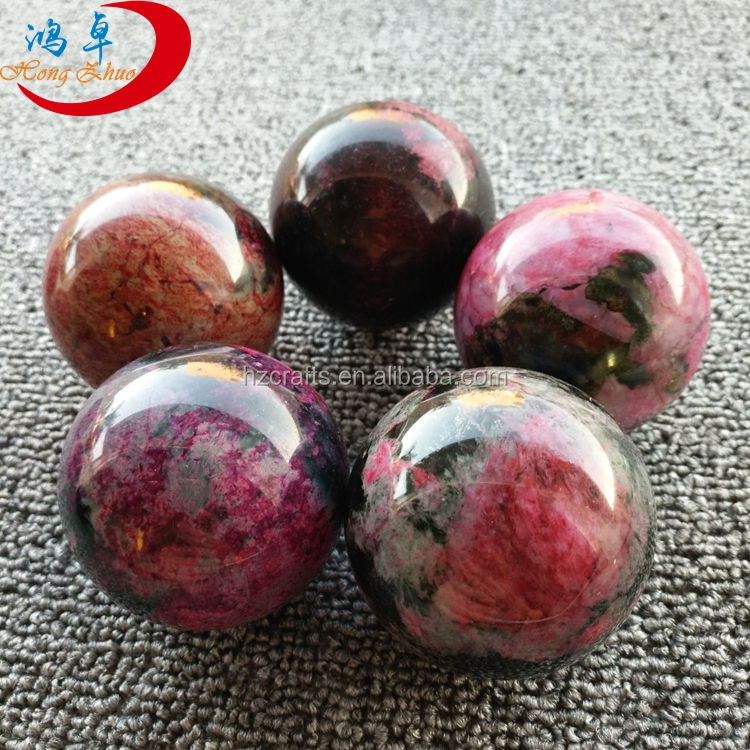 Jadeite products wholesale, natural peach blossom jade hand massage ball for body care