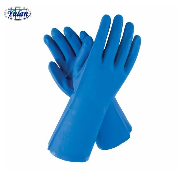 nitrile rubber glove blue color for industrial use