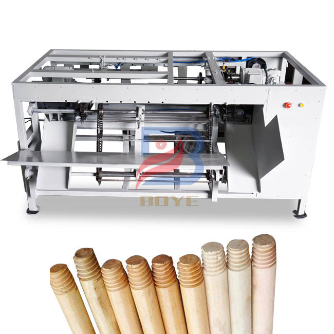 Factory price Broom Stick Threading Machine/wood threading tools