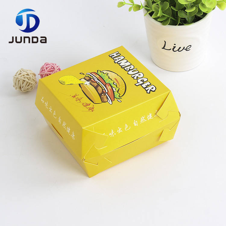Eco-friendly reclaimed material mini frozen burger packaging box