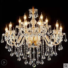 Hot selling promotional crystal chandelier wholesale gold color k9 crystal lamp for wedding event