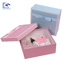 Luxury custom full printing perfumed candle cardboard paper Christmas gift box