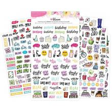 Diary Decorative Weekly Daily Planner Stickers, Cartoon Stickers For Planner