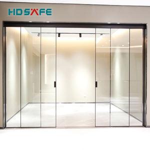 HDSAFE commercial glass exterior sliding glass door movable sliding glass door hardware coplanar sliding door system