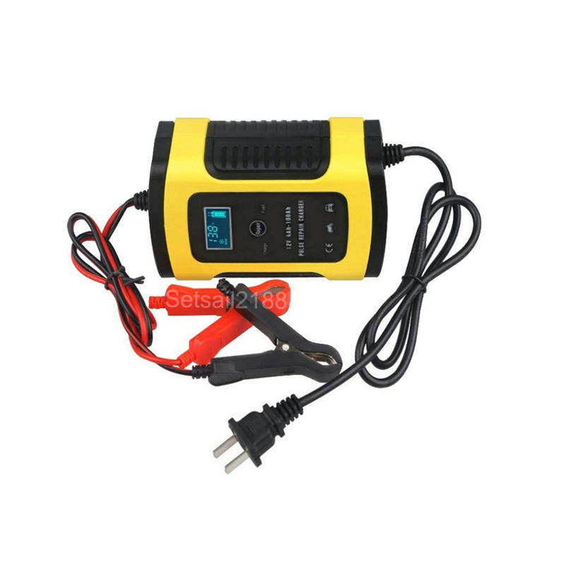 12V 5A 6A motorcycle Car Battery Charger Pulse Repair Lead acid Battery Charger 12V FOXSUR EU US UK AU