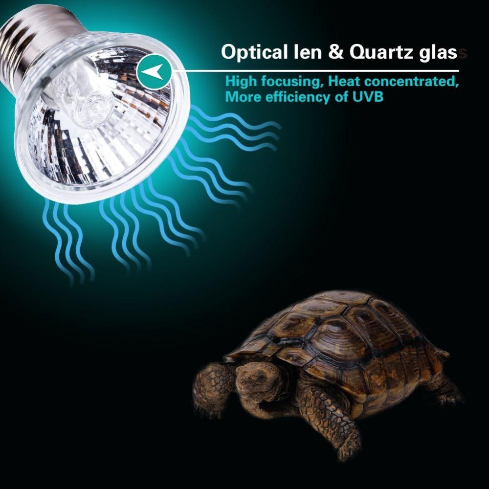 UVB Light UVA Bulb Basking Spot Lamp 110V/25W Full Spectrum Turtle Aquarium Aquatic Reptile Lizard Heat Lighting