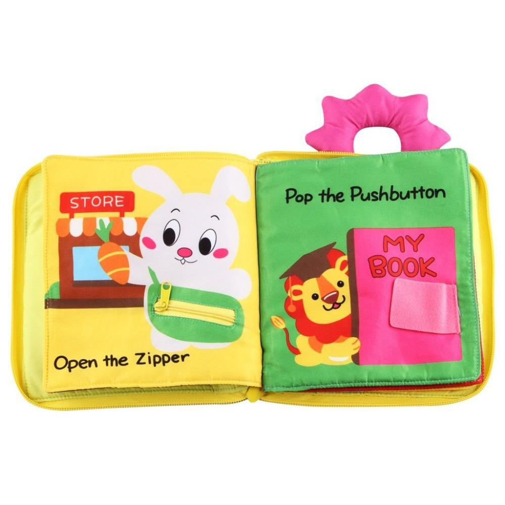 Best Gift Cute and Vivid Baby Activity Toy Ecofriendly Children First Year Cloth Book