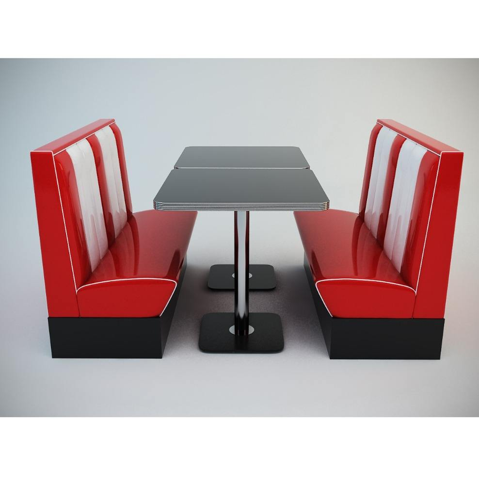 American Retro Diner Booths Seat Diner set Booth restaurant booths for sale