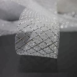 Silver metal thread polyester hair braid