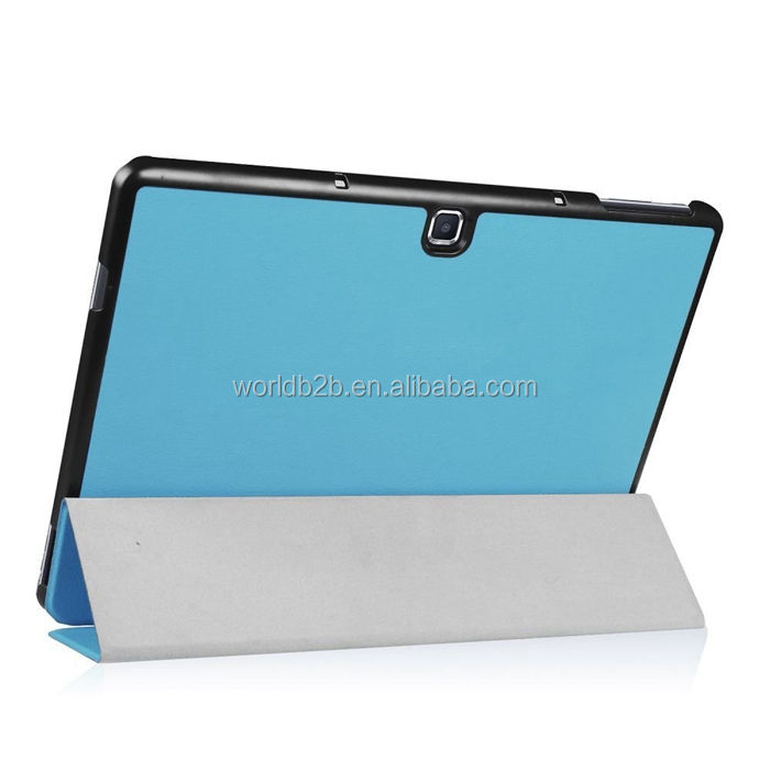 Slim Smart Fold Stand PU Leather Case for Samsung Tab Pro S,Many Colors are Available