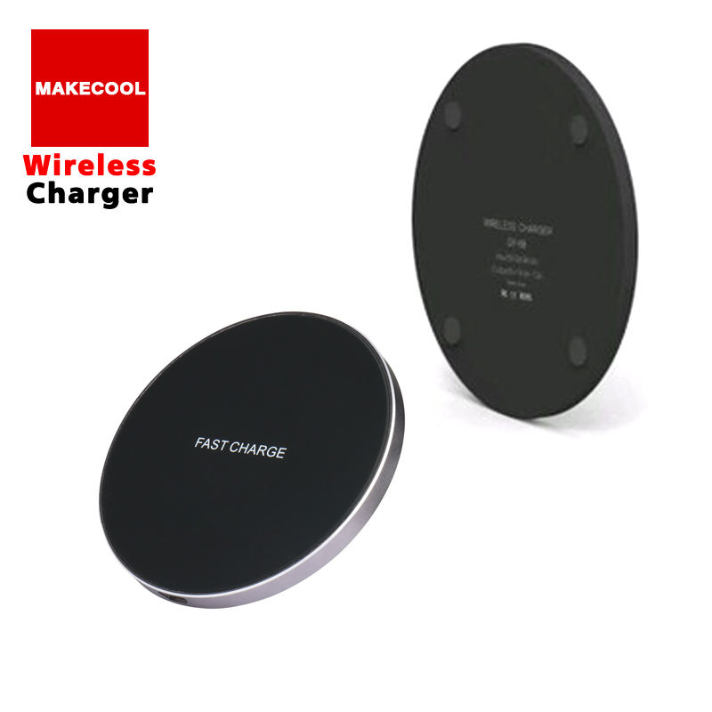 Qi Wireless Charger Metallic Fast fast Charger โทรศัพท์มือถือสำหรับ samsung galaxy s10 s9 s8 Plus