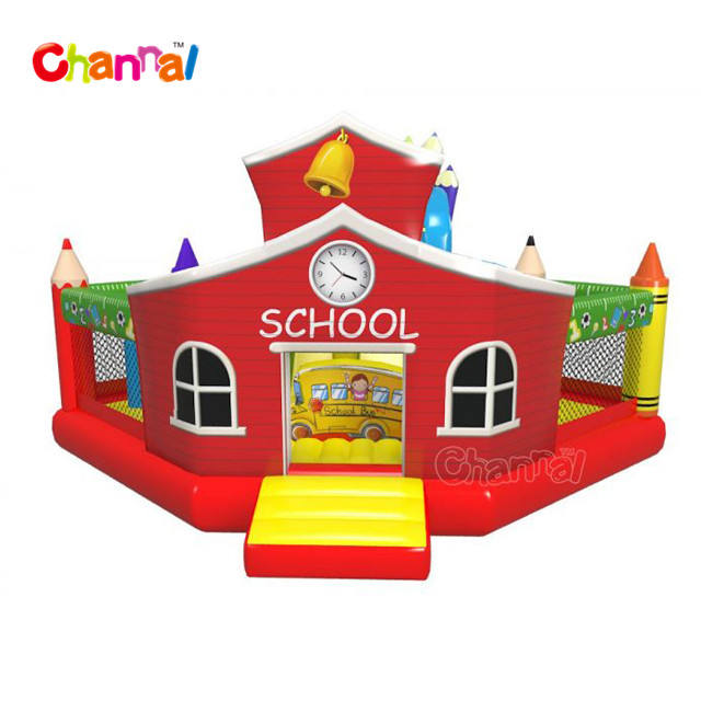 School inflatable playground slide inflatable obstacle slide castle course inflatable slide for kids