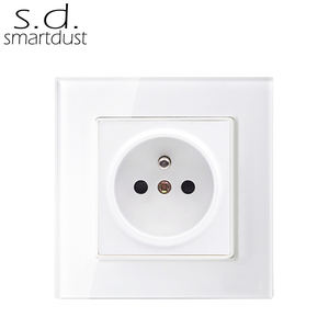 Franse 16A Glas Panel Power Plug Elektrische Muur Franse Socket Outlet