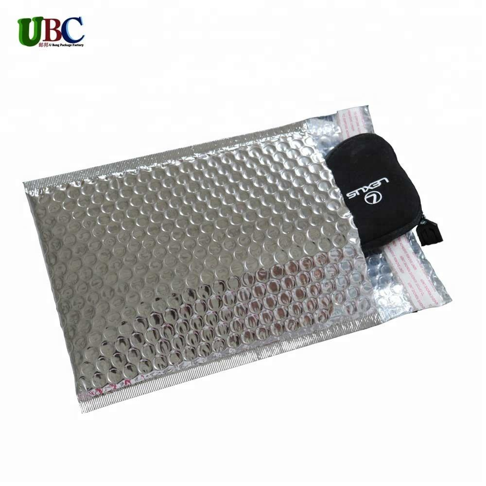 Aluminum mailer metallic bubble padded book mail packaging