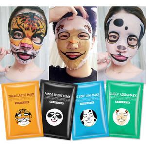 Cute Dog Sheep Panda Tiger Animal Face Mask Deep Moisturizing Sheet Mask Oil Control Brighten Skin Mask for All Skin