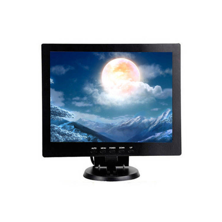 Wall Mount Desktop 10 inch 1024X768 Digital Screen TFT LCD Monitor with High-definition VGA USB BNC AV For CCTV Security System