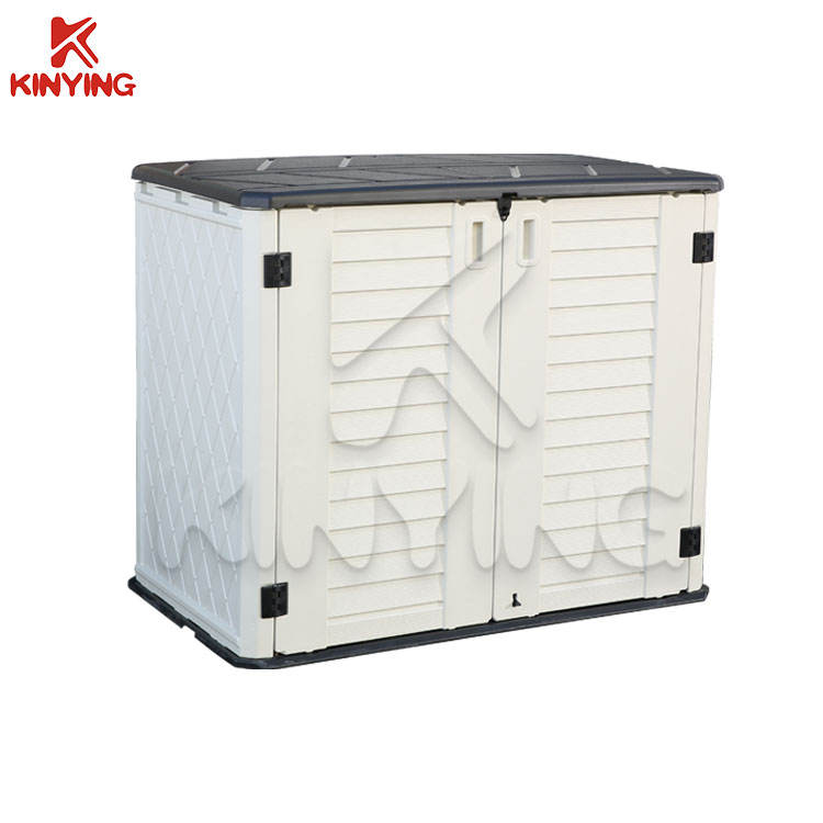 KINYING Cheap Waterproof Garden Plastic bicycle storage cabinet