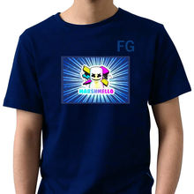 led flashing t shirt light up led light dance clothes