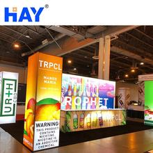 Portable Exhibition Booth Backdrop Backlit Back Wall Display Stand