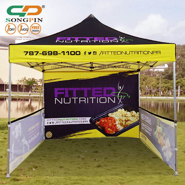 2019 SongPin Foldable Tent Gazebo Canopy 10x10 Ft Pop Up Trade Show Advertising Customize Outdoor Folding Tents