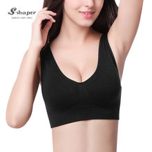 Wholesale Ladies Custom Made Young Girl Seamless Fitness Hot Sexy Women Sports Bra
