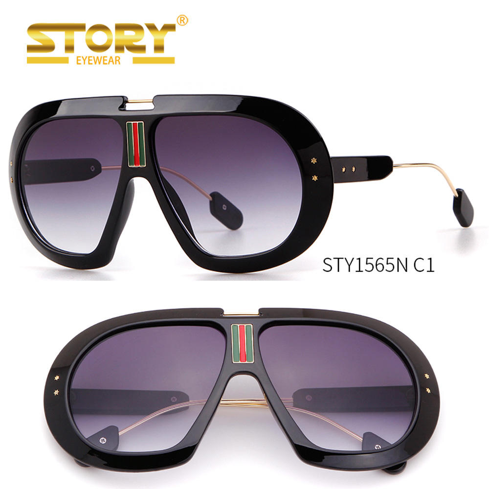 STORY STY1565N 2018 New Unisex Fashion Shades Star Oversized Sunglasses