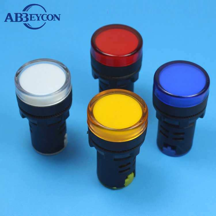 SCL 16mm ANTI-INTERFERENCE PANEL LAMP LED 230VAC BLUE