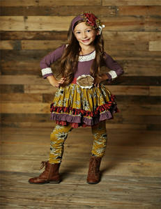 adorable ruffle printed floral casual boutique teen girls outfit
