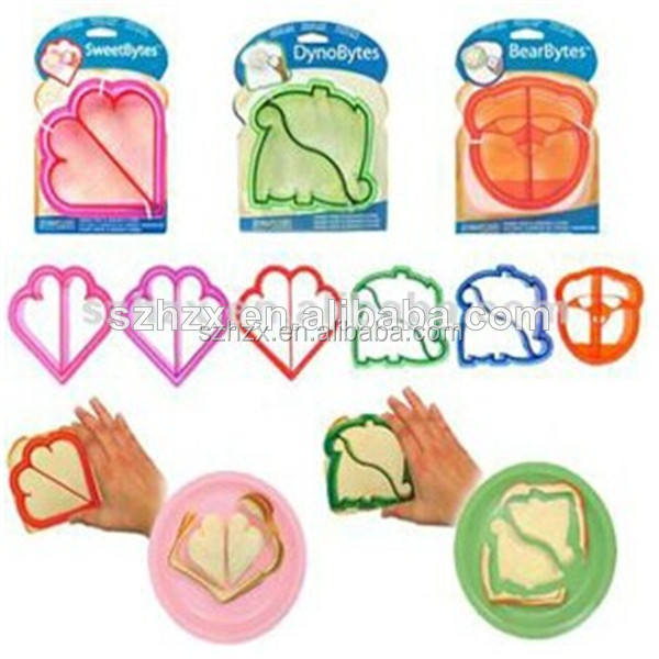 hot several styles sandwich bread toast cookie cutter mold