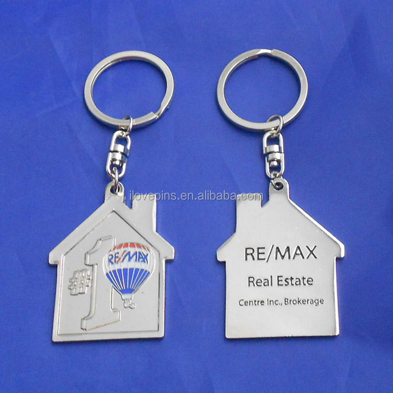 Number 1 souvenir house shape keyring for Real Estate