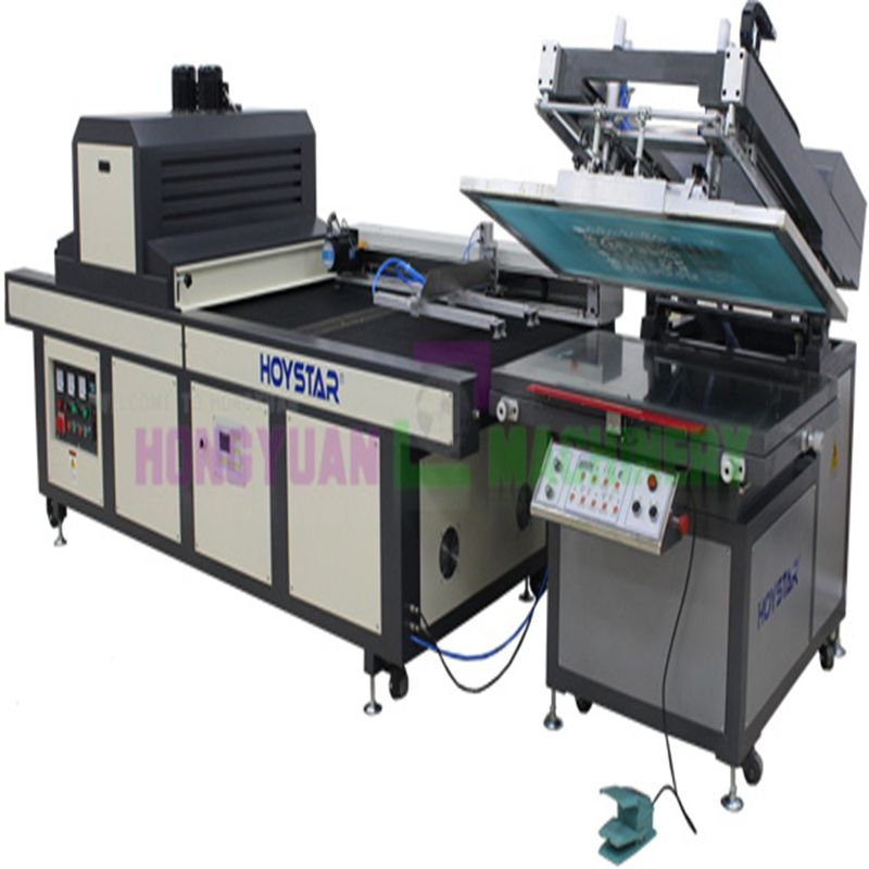 UV curing machine equipped screen printing printer