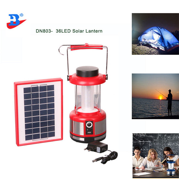 Portable rechargeable 36LED with 3w outdoor LED Solar Lantern