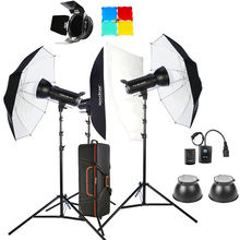 Godox studio 1200W SK400II 3 x 400Ws 2.4G Bowens Mount Strobe Flash Kits for Photography Lighting Portrait Photography Kits