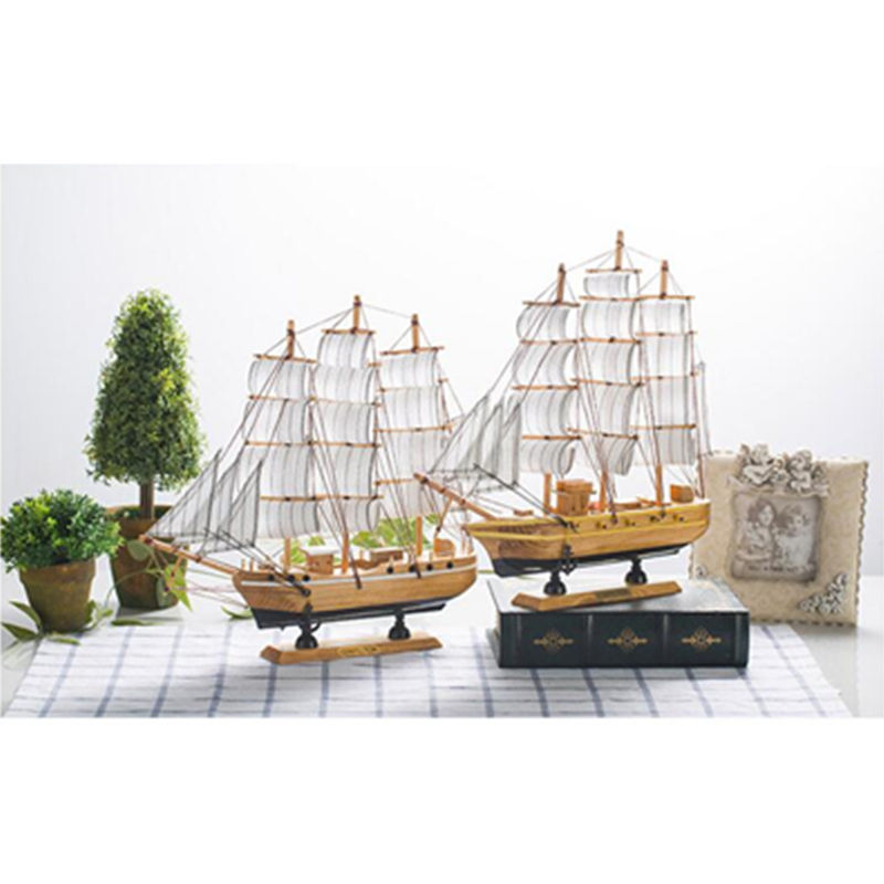 European Style Wooden Scale Model Ship Assembly Model Kits Classical Sailing Boat Model