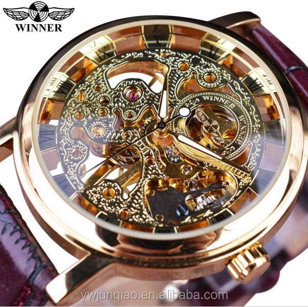 Luxury Brand Winner Mechanical Skeleton Watch Winder Automatic Waterproof Watch Mechanism
