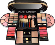 Private labels Fashion New launched eyeshadow lip gloss + foundation+ blush + Mascara makeup sets