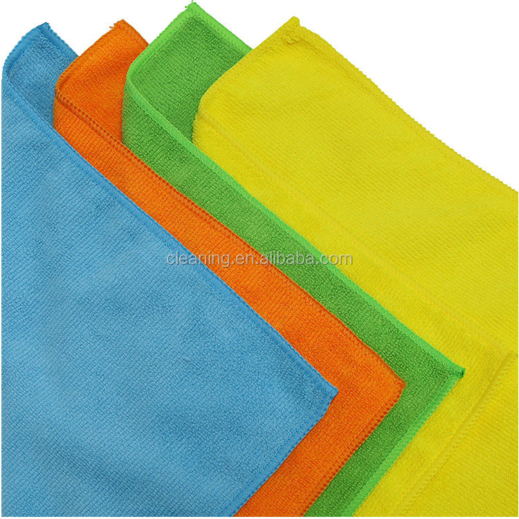 Extra large square household jacquard terry microfiber towel car cleaning 400 gsm