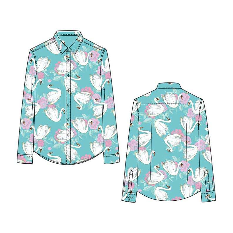 2021 NEW FASHION 100% COTTON RAYON CUSTOMIZED PATTERN DIGITAL PRINTING SHIRTS HIGH QUALITY WHOLESALE FACTORY DRESS SHIRT FOR MEN